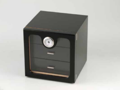 Humidor Black three Drawers